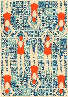 Swimmers by @Lou Taylor found @shop_lois https://shop-lois.squarespace.com/prints/limited-edition-swimmers-print-by-lou-taylor