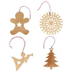 Scandinavian Christmas small decorations 4 pack  Classic shapes CHRISTMAS IN #HTFSTYLE