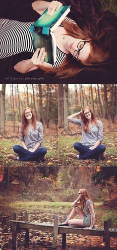 Senior Session | Kelly Gorney Photography. Love the book prop, use a book of profession they'll major in! Too cute!