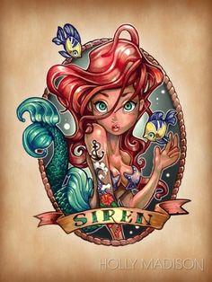 Disney Princesses Vintage Tattoos