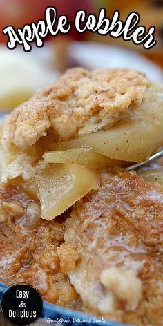 Quick Apple Dessert, Healthy Apple Desserts, Apple Deserts, Apple Dessert Recipes, Apple Crisp Recipes, Sweet Desserts, Delicious Desserts, Fall Desserts, Apple Cobbler Easy
