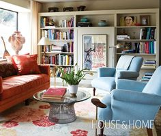 Sophisticated Colourful Living Room | House & Home