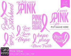 Breast Cancer svg / Pink Tribe svg / svg files / svg for