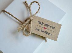 50 Tag Label personalizzati - piccolo regalo personalizzato, Merchandise e Candy tag - fatto con amore Kraft