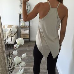 Suede Cross Tank || ohm boutique