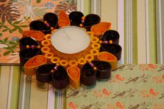 rustic orange-This collection is inspired by nature!! Our choice of color, embellishment & design is pre dominantly Indian.These water resistant quilled candle holders are great option They make good decorative item or you can just pick them for gifting..Each one is handmade by using paper strips, quilled to get desired designs.  www.facebook.com/craftstruck  craftstruck2012@gmail.com  #quilledart #quilling #quilledcandles #quilledtealightcandle #craftstruckdesignstudio #quilledhomedecor