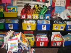 Wish I could be this organized!  Very hard with NO shelves in an elementary classroom :(