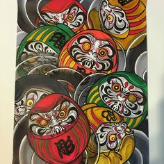 New Years paint!! Title is Nana korobi yaoki #七転び八起き#達磨画#horiryupaint2015#horiryuirezumi #horiryufirst #horiryutattoofamily #marker#paint#japaneseirezumiart#horiryuirezumi #vancity #vancouber #canada...