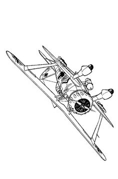 coloring page wwii aircrafts spitfire 1940 educational