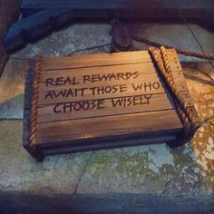 Words of wisdom from the Indiana Jones ride. #indianajones #disneyland by iamtheampersand