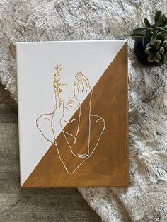 Mini Canvas Art, Diy Canvas, Photo Canvas, Custom Canvas, String Art, Nail String, Abstract Face Art, Hippie Painting, Aesthetic Art
