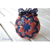 KIT - Patriotic Quilted Ornament Kit with Pattern Quilted Fabric Ornaments, Quilted Christmas Ornaments, Handmade Christmas, Christmas Crafts, Christmas Balls, Christmas Decorations, Christmas Placemats, Christmas Fabric, Felt Christmas