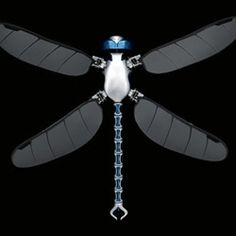 BionicOpter by Festo is a bio inspired robot that mimics the complex flight characteristics of a dragonfly.