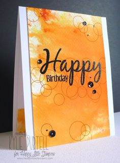 Kylie Purtell, Happy Little Stampers, Brushos, Everyday Sentiments, Heat Embossing