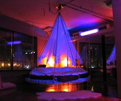 Romantic lighting for Floating Bed