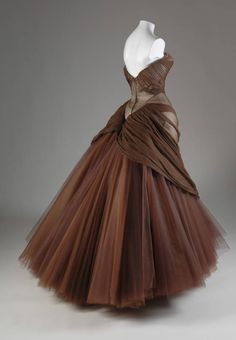 """Swan"" by Charles James, 1954 - love the draping over the full net skirt."