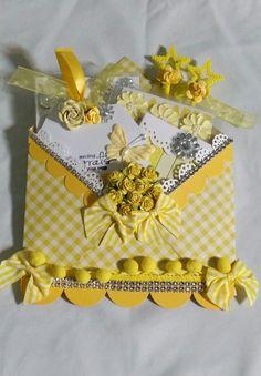 Yellow loaded envelope by Monique Fox - Scrapbook.com