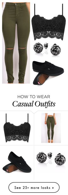 """casual"" by ruthjauregui on Polyvore featuring Vans, Sonal Bhaskaran, women's clothing, women, female, woman, misses and juniors"