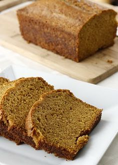 My all time favorite pumpkin bread recipe. Lightly spiced, moist, and delicious. I like to add 1/2 to 1 cup of chocolate chips in with every loaf. Making this for tomorrow!