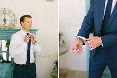 groom's preparation // Wedding photographer in Provence  Village Lacoste, Luberon Valley
