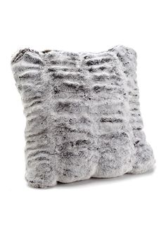 Frosted Grey Mink Couture Collection Faux Fur Pillows - 2