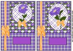2 Purple Periwinkle Card Fronts 1