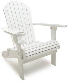 Strathwood Basics Adirondack Chair, White by Strathwood