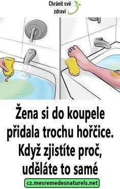 Žena si do koupele přidala trochu hořčice. Když zjistíte proč, uděláte to samé Samos, Kuroko, Keto Recipes, Detox, Health, Medicine, Health Care, Healthy, Salud