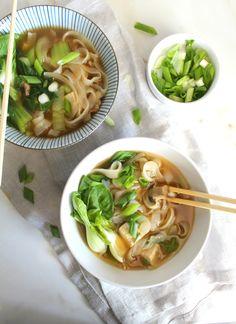 Asian Vegetable Noodle Soup   ThisSavoryVegan.com