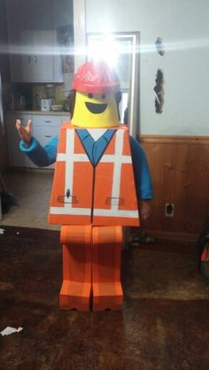 """Emmet"" from Lego movie, he won the contest at school"
