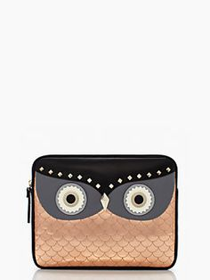 Kate Spade // Wise Old Owl Ipad Sleeve