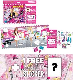 StickerZine Barbie Collectible Sticker Album 1 FREE Official Barbie Sticker Sheet Bundle 223074 ** Visit the image link more details. Barbie Makeup, Hobbies For Kids, Craft Kits For Kids, Barbie Collection, Game Art, Image Link, Arts And Crafts, Album, Stickers
