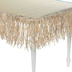 Take your luau to lu-wow! Turn any party into an island bash with this raffia table skirt decoration. This short fringe decoration looks tropically terrific .
