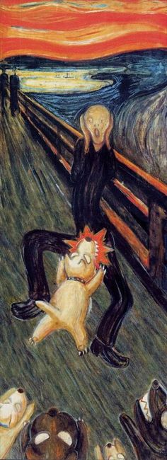 "Some variations on ""The Scream"" by Edvard Munch Edvard Munch, Scream Parody, Scream Art, Wallpaper Iphone Disney, Cartoon Wallpaper, Le Cri Munch, Foto Cartoon, Pop Art, Popular Paintings"