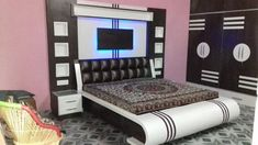Double bed design fancy model new I love this Double Bed Designs, Bedroom Furniture Beds, Bedroom Furniture Design, Bedroom Design, Bed Interior, Bedroom Bed Design, Bedroom Cupboard Designs, Box Bed Design, Bedroom False Ceiling Design
