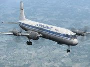Aeroflot Ilyushin Il-18V Free Airplane Paper Model Download