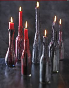 Homemade or diy candle holder. Maybe for a date night perhaps :)