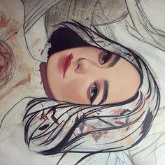 ✨✨wip #painting #oilpaint #gamblin #canvas #gesso #wip