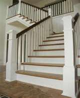 Traditional stairs, crisp and clean