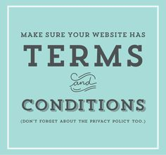 Terms & Conditions: Protecting Your Online Business - oh my! handmade goodness