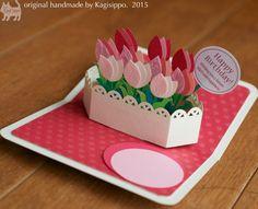 original handmade pop-up card [Tulip]  #Birthday card