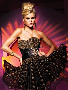 Image detail for -Black and Gold Short Party Dresses   Short Formal Style Evening ...