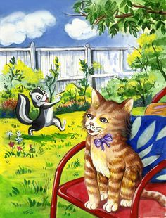 cat illustration style
