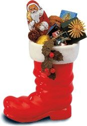 Nikolausstiefel    Some German children get their sweets from St. Nicholas on December 6 in little boots...
