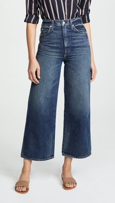 Find and compare Ava Crop Wide Leg Jeans across the world's largest fashion stores! Work Fashion, Denim Fashion, 50 Fashion, Female Fashion, Fashion Styles, Womens Fashion, Fashion Ideas, Jean Outfits, Casual Outfits