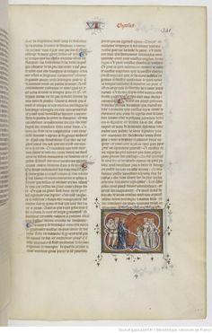 Grandes Chroniques de France Fol 350r, 1375-1380, Henri du Trévou & Raoulet d'Orléans