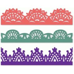 Silhouette Design Store: set of three ornate borders Silhouette Cutter, Silhouette Design, Silhouette Files, Silhouette Studio, Scrapbook Borders, Scrapbook Cards, Diy And Crafts, Paper Crafts, Silhouette Online Store