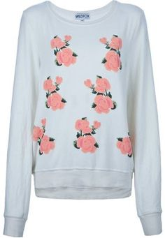 Wildfox rose sweatshirt Wildfox Couture