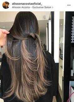 Hair Ideas Winter Highlights New Ideas Hair Color Balayage, Hair Highlights, Ombre Hair, Long Hair Cuts, Long Hair Styles, Brunette Hair, Gorgeous Hair, Dyed Hair, Hair Inspiration