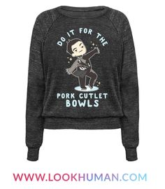 "Channel your inner Yuri Katsuki with this cute Yuri on Ice shirt. This design features an illustration of Yuri preforming Eros: in Regards to Love and the phrase ""Do It For The Pork Cutlet Bowls."